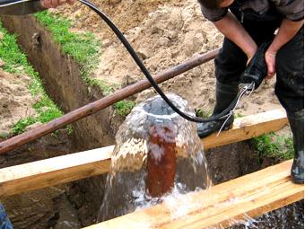 центральное водоснабжение дома